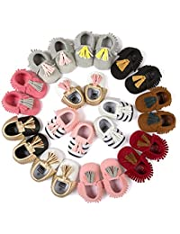 Infant Baby Boys Girls Crib Shoes PU Leather Tassel Moccasin Prewalker Loafers First Walkers