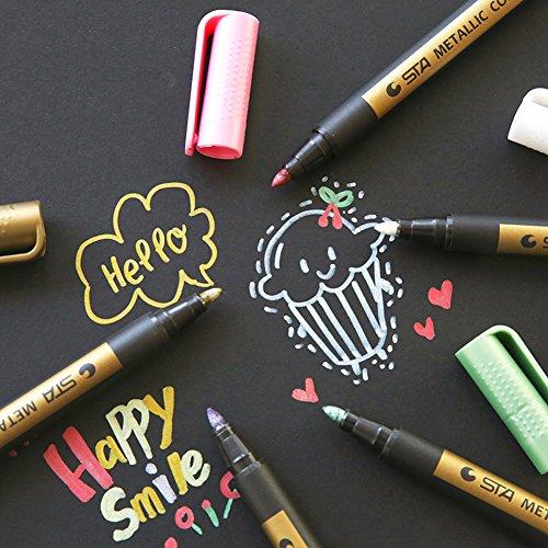 Fine Metallic Paint Markers Pens Medium Point Metal Art