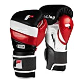 Fighting Sports S2 Gel Fear Training Gloves, Black/White/Red, 16 oz