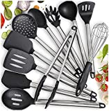 Home Hero 11 Silicone Cooking Utensils Kitchen Utensil set - Stainless Steel Silicone Kitchen Utensils Set - Silicone Utensil Set Spatula Set - Silicone Utensils Cooking Utensil Set - Kitchen Tools