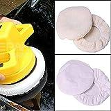 KINGZHUO 4 Pcs Polishing Bonnet Buffer Polishing Pad for 9 inch & 10 inch Car Polisher