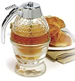 NORPRO 780 Glass 1 Cup Bee Hive Honey Syrup Dispenser Jar With Stand