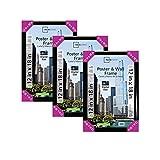Mainstays Black Rectangle Plastic 12x18 Trendsetter Poster Frame, Set of 3