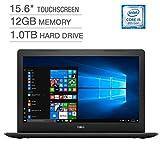 2018 Dell Inspiron 15 5000 Flagship Premium 15.6' Full HD Touchscreen Backlit Keyboard Laptop, Intel Core i5-8250U Quad-Core, 12GB DDR4, 1TB HDD, DVD-RW, Bluetooth 4.2, Windows 10, Black