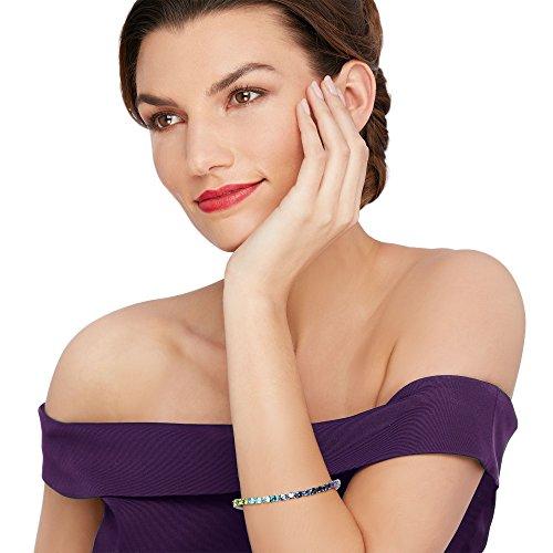 Women wearing a tennis bracelet
