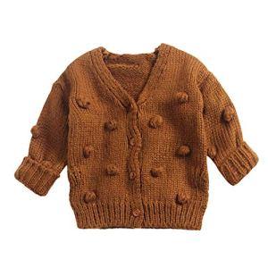 BCVHGD Winter Children Sweater Long Sleeve Sweaters Baby Kids Girl Winter Down Sweater Jacket Knit Tops Cardigan