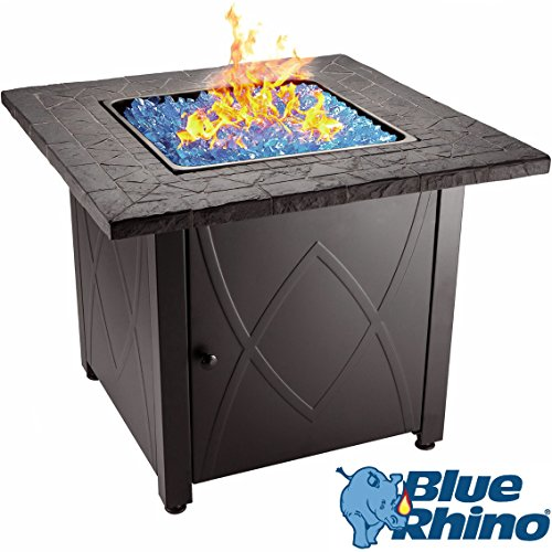 Blue Rhino Outdoor Propane Gas Fire Pit (Blue Fireglass)