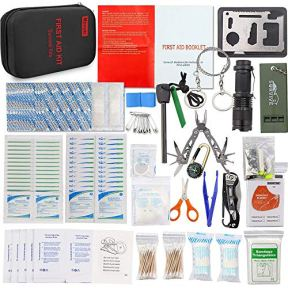Monoki-First-Aid-Kit-Survival-Kit-241Pcs-Upgraded-Outdoor-Emergency-Survival-Kit-Gear-Medical-Supplies-Trauma-Bag-Safety-First-Aid-Kit-for-Home-Office-Car-Boat-Camping-Hiking-Hunting-Adventures