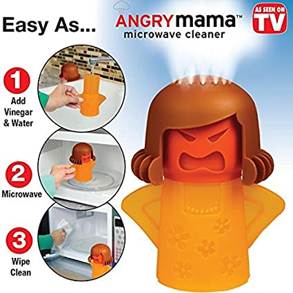 Angry Mama Microwave Oven Cleaner by BulbHead - Just Add Vinegar and Water