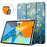 MoKo Magnetic Smart Folio Case Fit iPad Pro 11' 2018 - [Support Apple Pencil Magnetically Attach Charge/Pair] Slim Lightweight Shell Stand Cover, Auto Wake/Sleep for iPad Pro 11 Inch - Almond Blossom