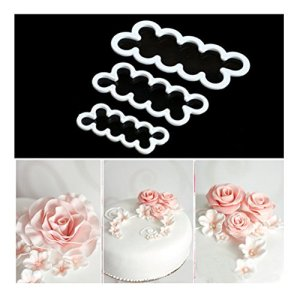 3pcs/set Cake Decorating Mold Sugarcraft Easiest Rose Ever Cutter DIY Fondant Maker Baking Tool Accessories 511ycScdUkL