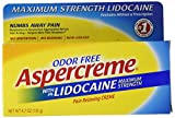 Aspercreme Pain Relieving Creme With Lidocaine, 4.7 Ounce, Pain Relieving Cream Helps Reduce and Numb Pain from Arthritis, Backache, Muscle Strains and Sprains