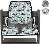 Janabebé Cushion for high Chair Stokke Tripp Trapp (Raccoon)