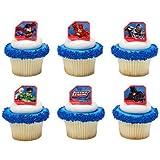Justice League Cupcake Rings - 24 pc