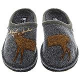 Haflinger AR Women's Deer Grey Slipper (38)