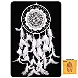 CHICIEVE Dream Catcher White Feather Dreamcatchers for Wall Hanging Decoration Wedding Decoration Ornament Christmas Craft -Dia 7.9 inch