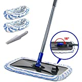 Large Area Flat Mop with 2 Mop Pads 360 Degree Magic Microfiber Floor Mop for Hardwood Floors Masthome