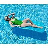 Spongex Deluxe Cool Pool Float In Durable Aqua Cell Foam Construction, 72' x 1.75', Blue