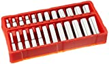 GreatNeck 18622 Metric Socket Set, 1/4 Inch Drive, 24-Piece