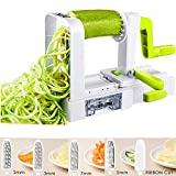 Spiralizer Vegetable Slicer, Deik Spiral Slicer 5 Blade, 2018 New Model Foldable, Strongest Heaviest Duty Veggie Pasta and Spaghetti Maker for Low Healthy Carb/Paleo/Gluten-Free