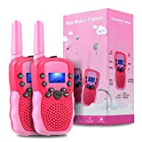 OMWay Outdoor Toys for Toddlers Age 3-5, Kids Walkie Talkies for Girls Age 3-8,2 Way Radio Walkie Talkies,3-12 Year Old Boys Girls Birthday Gifts.