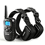 AGPtek Rechargeable Remote Pet Dog Training System with 2 Collars(Please note that every time you pull out the batteries, you need to match code again)