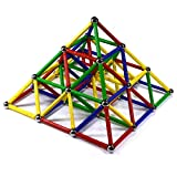 CMS MAGNETICS 156 PC Magic Magnetic Building Sets - Magnetic Brain Building Toys for Kids and Adults - Magnet Toy for All Ages