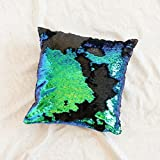 Ankit Mermaid Pillow with Insert Sparkling Mermaid with Flip Sequin, Magic Glitter Reversible Color Changing Decorative Pillow