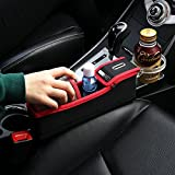 KMMOTORS Coin Side Pocket, Console Side Pocket, Car Organizer Red Passenger