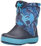 crocs Crocband LodgePoint Graphic Boot (Toddler/Little Kid), Blue Camo, 7 M US Toddler