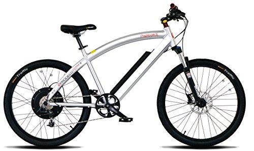 "ProdecoTech Phantom X V5 36V600W 8 Speed Electric Bicycle 14Ah Samsung Li Ion, Brushed Aluminum, 18""/One Size"