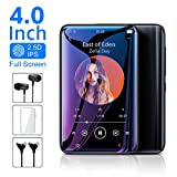 TIMMKOO MP3 Player with Speaker, 4.0' Full Touchscreen HD Video Mp4 Player, 8GB Portable HiFi Lossless Sound Mp3 Music Player with FM Radio, Voice Recorder, E-Book, Alarm Clock, Supports up to 128GB