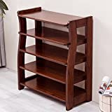 JIANFEI Shoe Shelf Rack 5-Tier Arcuate Structure Super Load-Bearing High-end Storage Cabinet