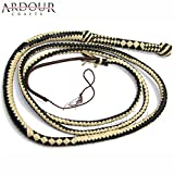 Product review for Genuine Real Leather 08 Feet Long 12 Plait Weaving Bull Whip Black & Off White