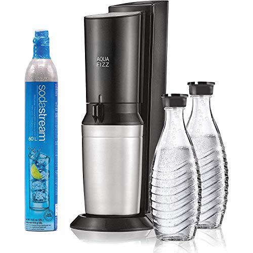 SodaStream Aqua Fizz Sparkling Water Machine (Black) with Co2 & Glass Carafes 1
