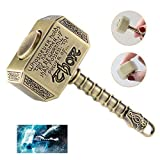 MAYBO SPORTS Wiitin Bearing Replaceable Thor's Battle Hammer Fidget Spinner with Spare Bearing and Tools, The Mighty Mjolnir Toy Made by Metal - Antique Brass