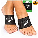Foots Love Plantar Fasciitis - Arch Support Inserts Copper Compression - Arch Sleeves for Men and Women. Arch and Heel Pain Relief (Black)