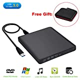 Guamar External Blue-Ray Drive,USB 3.0 Aluminum Blu-Ray Drive CD/DVD Burner/Writer with 3D Blu-ray Disc Playback,Super-Fast Blu-Ray Writing Reading Speed,for Notebook Netbook Desktop,Black