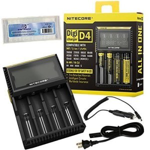 Nitecore Charger with EASTSHINE EB182 Battery Box and Car Charger