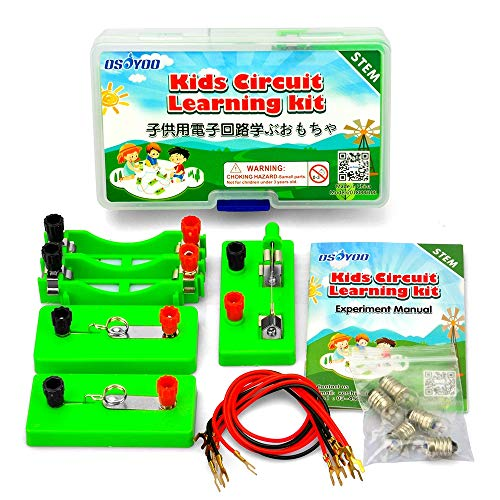 OSOYOO Kids Circuit Learning Kit for Science Study,Series Circuit Parallel Circuit,Science Physical Education Equipment,Learning by Doing, Recommend for Kid Age 3+ (First lab kit)