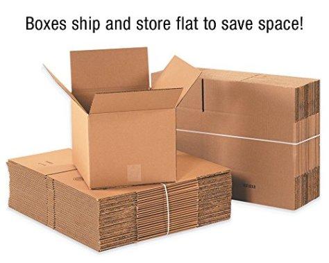 BOX-USA-BX883-Flat-Corrugated-Boxes-8L-x-8W-x-3H-Kraft-Pack-of-25