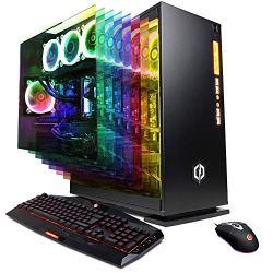 CYBERPOWERPC Gamer Supreme Liquid Cool SLC9120CPG Gaming PC (AMD Ryzen 7 2700X 3.7GHz, 32GB DDR4, NVIDIA GeForce RTX 2080 8GB, 480GB SSD, 2TB HDD, 802.11AC WiFi & Win 10 Home) Black