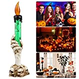 EEEKit Halloween LED Light Skull Hand Candle Holder Skeleton Ghost Flameless Candle Battery Operated Party Bar Decoration Lamp
