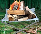 Endless Valley Outdoors Portable Fire Pit Eco-Friendly Firepit with Anti Heating Mesh and Durable Folding Base- Perfect for Camping, Trekking, Backyard, Picnic and Garden - Carry Bag Included