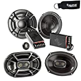 Polk Audio - A Pair of DB6502 6.5' Components and A Pair of DB692 6x9 Coax Speakers - Bundle Includes 2 Pair