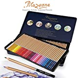 Creative Mark Cezanne Colored Pencil Set For Adults - 72 Superior Professional Artist Quality Drawing Pencil High Lightfast Non-Toxic Pigments 3mm Diameter - Metal Gift Tin [Set of 72 Assorted Colors]
