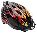 Schwinn Thrasher Lightweight Microshell Bicycle Helmet Featuring 360 Degree Comfort System with Dial-Fit Adjustment, Child, Flames