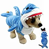 Gimilife Pet Costume, Pet Shark Costume Outfit, Halloween pet Costumes Pet Pajamas Clothes Hoodie Coat Puppy Winter Coat for Dogs and Cats XXL