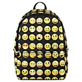 Hynes Eagle Printed Emoji Backpack Black