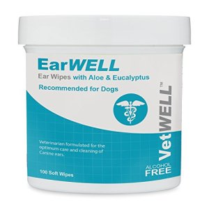 VetWELL Dog Ear Wipes - Otic Cleaning Wipes for Infections and Controlling Yeast, Mites and Odor in Pets - EarWELL 100 Count 12